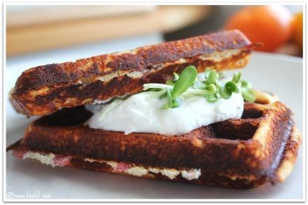 bacon vaffler fetaost krem solrosskott ala lissfit