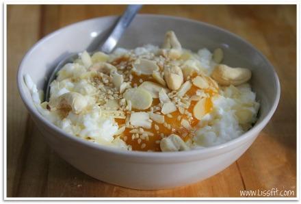 frukost keso cashew mandel sesam ala lissfit
