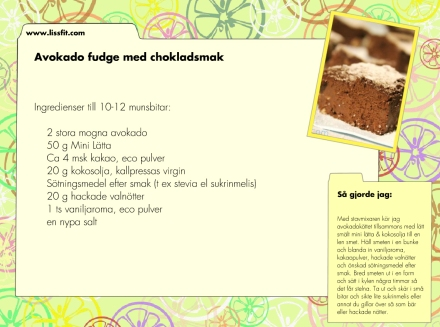non bake avokado fudge ala lissfit