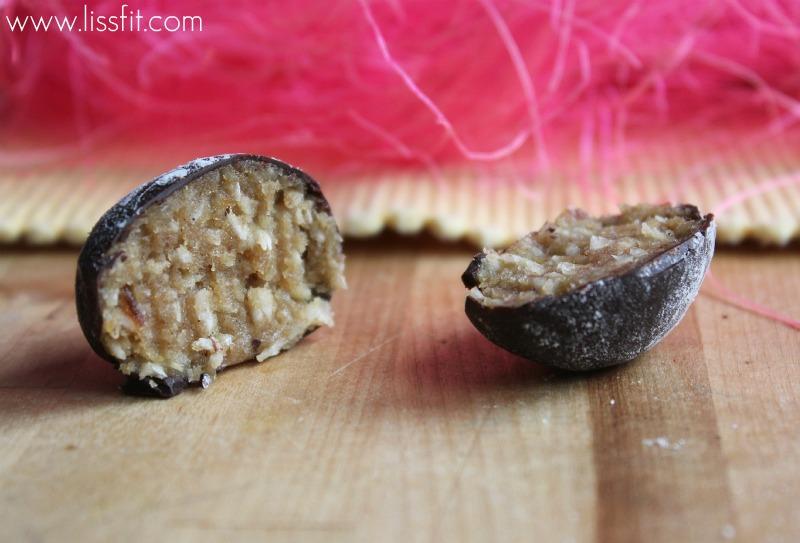 Nyttig påskgodis: Raw cashewnöt-ägg med apelsinsmak och mörktchokladöverdrag
