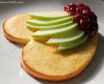 low carb sandwich äppel sylt ala lissfit