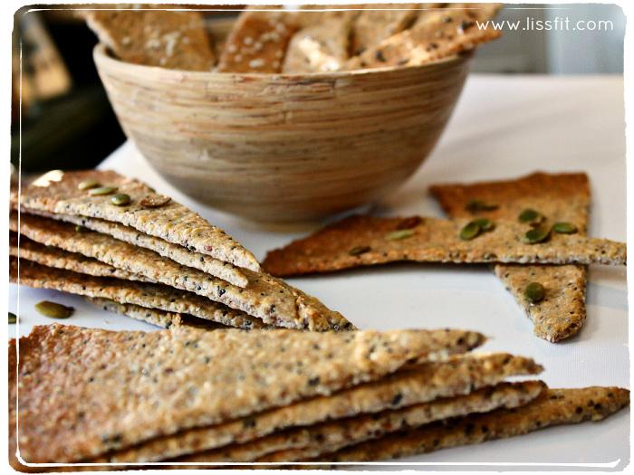 raw glutenfria mandel valnöt kex crackers kjeks ala lissfit