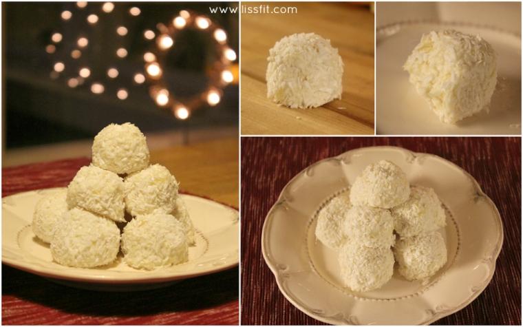 bilder recept snöbollar kokos ananas ala lissfit
