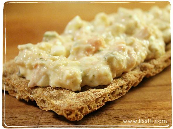 crab egg tuna sallad ala lissfit