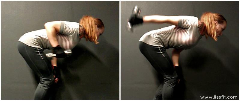 isolating triceps kickbacks lissfit