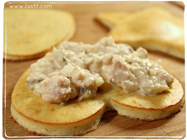 low carb crab egg tuna sallad ala lissfit