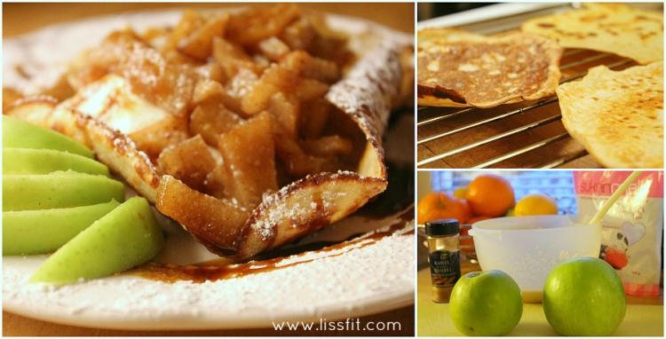 recipe glutenfree protein crepes warm vanilla apple compoten ala lissfit