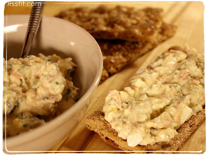 salat med egg tunfisk krabbe ala lissfit