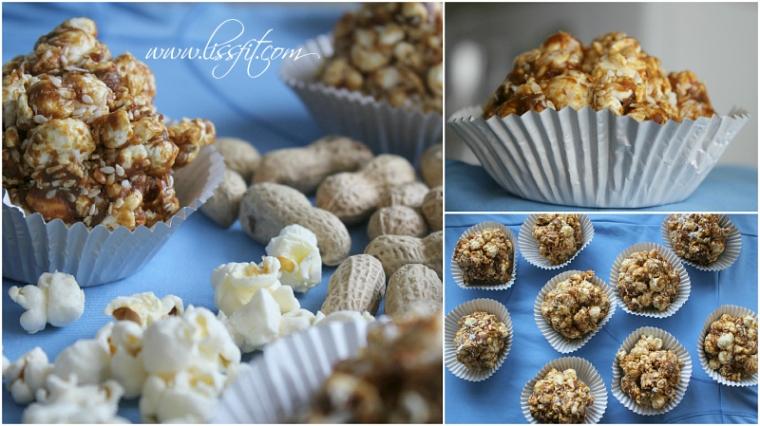 bilder popcorn bomber kokos sesam peanøttsmør ala lissfit