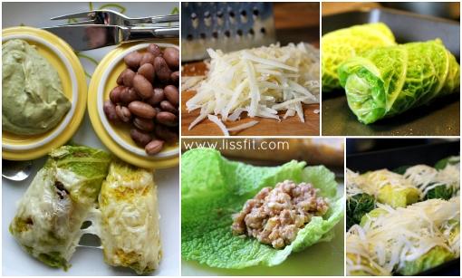 cale rolls savoy chicken cauliflower rice ala lissfit