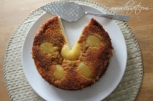 glutenfree up_side_down cake almond caramel pear ala lissfit