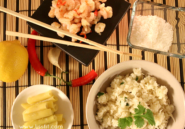 lowcarb cauliflower coconut risotto ala lissfit