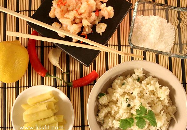 lowcarb cauliflower coconut risotto ala lissfit