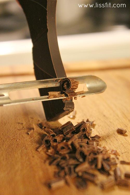 peeling av choklad garnering ala lissgit