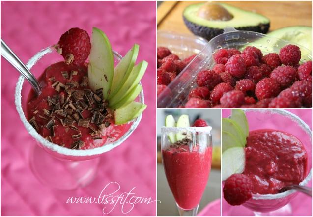 raspberry avocado chokolate valentines dessert ala lissfit
