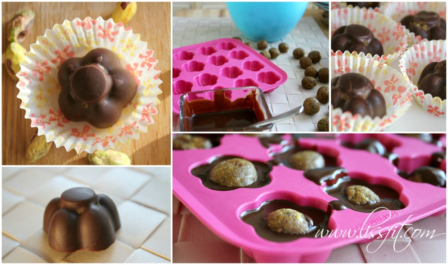 nyttig recept godis konfekt pistasch fyllda proteinrika  chokladkonfekt ala lissfit