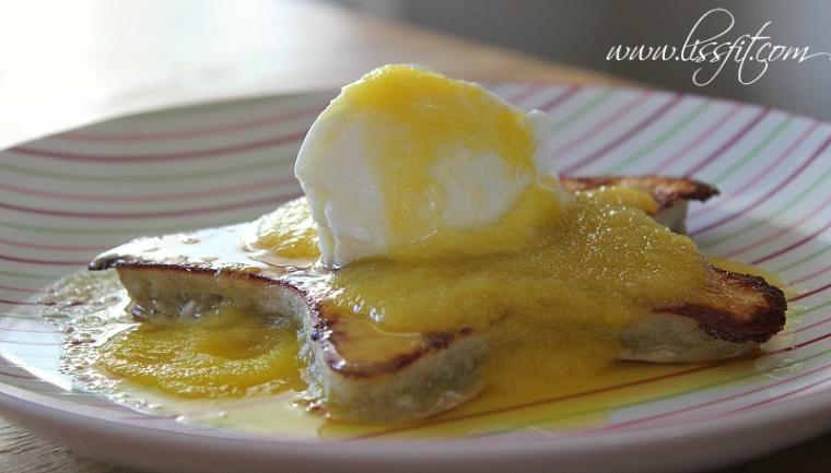 pannkaka yoghurt mango ala lissfit