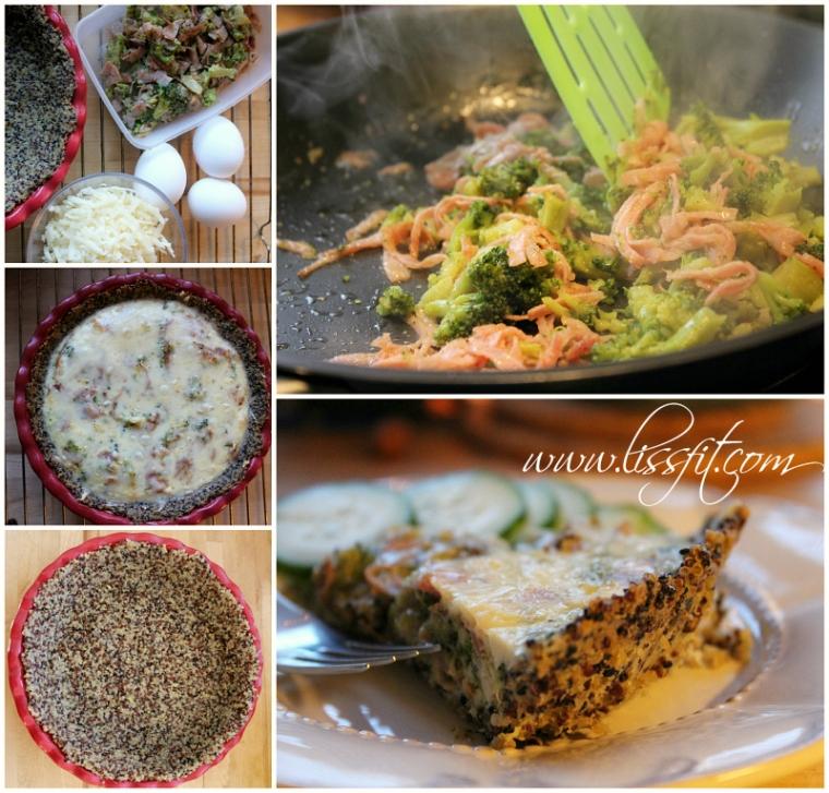 bild broccoli skinka ost paj quinoa pesto botten lissfit recept