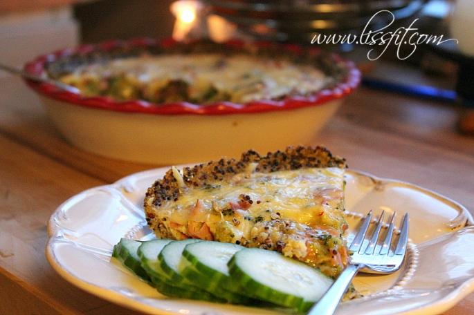 broccoli skinka ost paj quinoa pesto botten lissfit recept