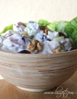 Lissfit chicken sallad walnuts grapes