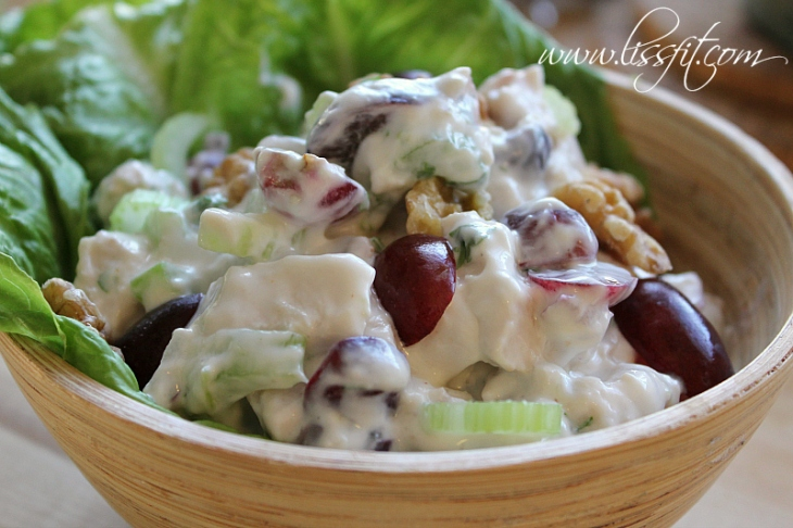 recept vindruvor, valnötter selleri kycklingsallad lissfit
