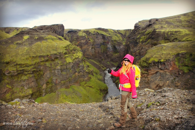 Iceland canyon Laugavegur trek lissfit