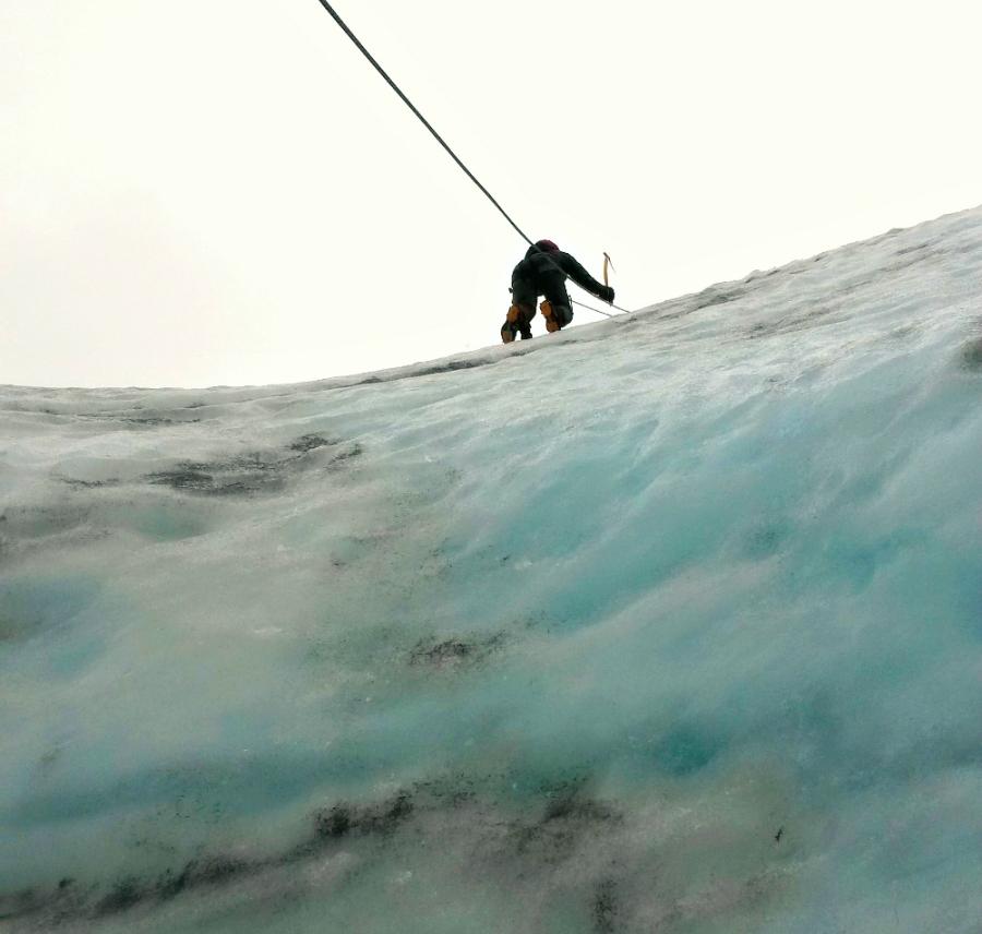 Isklättring på Sólheimajökull glaciär +restips