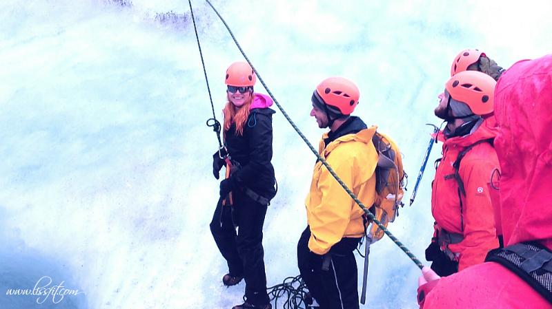 Isklättring på Sólheimajökull glaciär