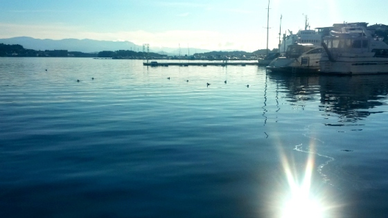 Morgonsol Leirvik havn2
