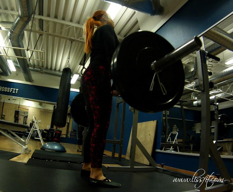 Dagens raka marklyft på gymmet