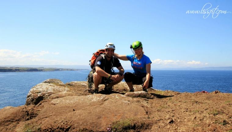 cliff rock climbing northern ireland antrim coast irland