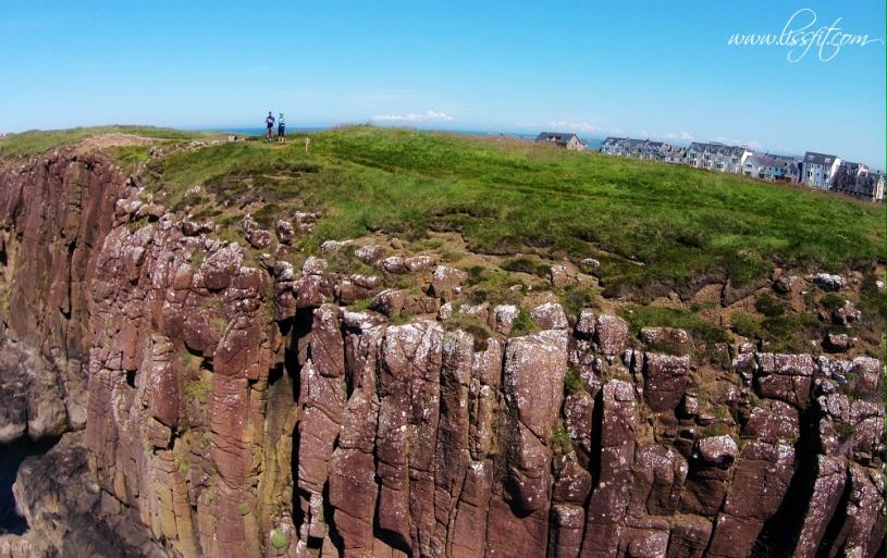 Portrush Ramore Head climbing drone photo