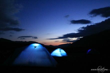 base camp at sunset lissfit