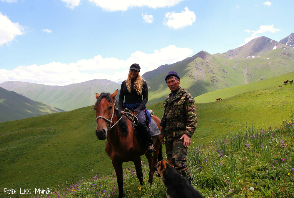herders horse and dog kyrgyzstan