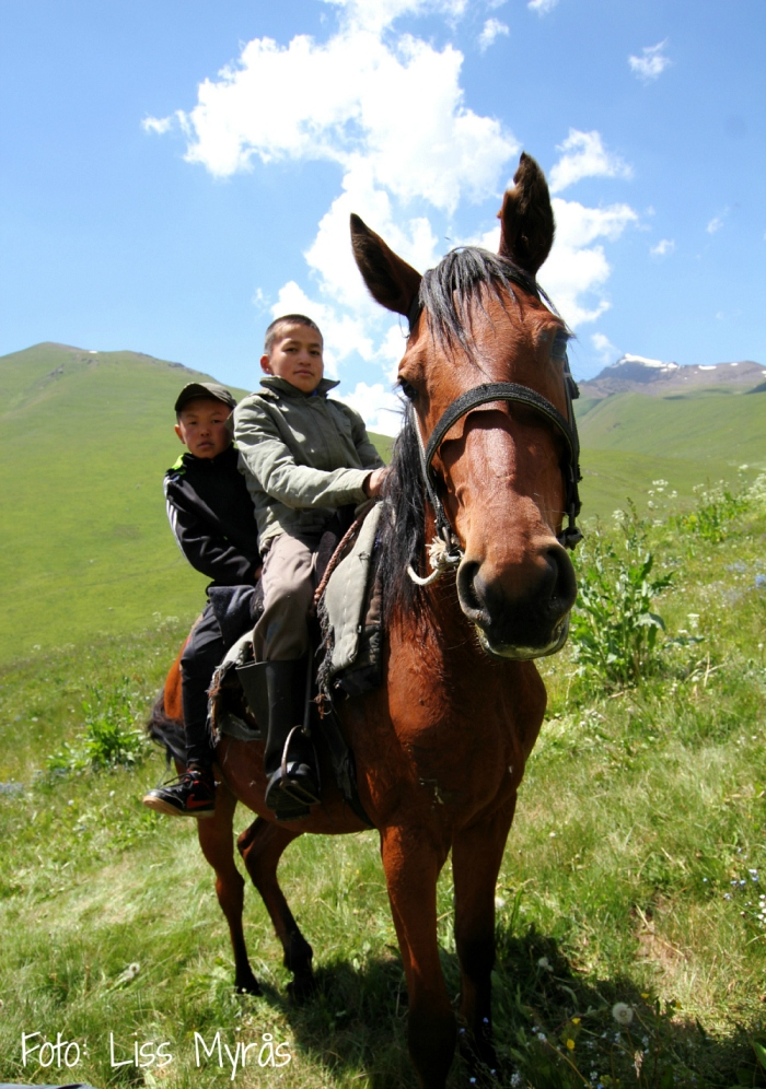 Kyrgyzstan herder visitors at our overnight camp