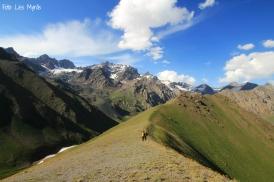 Fjellrygg Kyrgyzstan