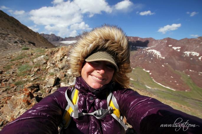 selfie on mountain ridge Kyrgyzstan lissfit