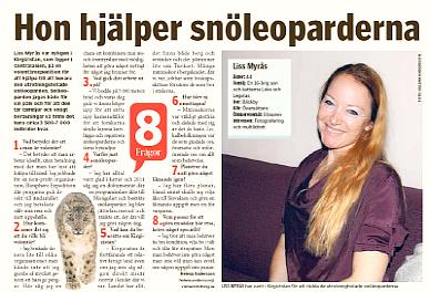 tidning artikel snöleopard expedition kirgizistan