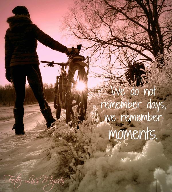 quote foto liss myrås vinter cykling  mtb