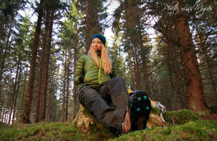 photo liss myrås selfie woods track bruksleden sweden nature landscape