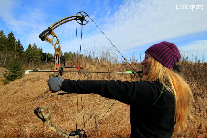 compound archer target outdoor bågeskytte bueskyting liss myrås