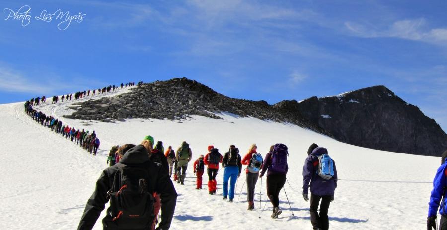 Norway mountaineering Galdhøpiggen styggebreen juvasshytta jotunheimen photo Liss Myras