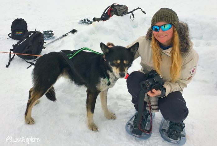 Svalbard larsbreen ice cave climb dog liss myrås