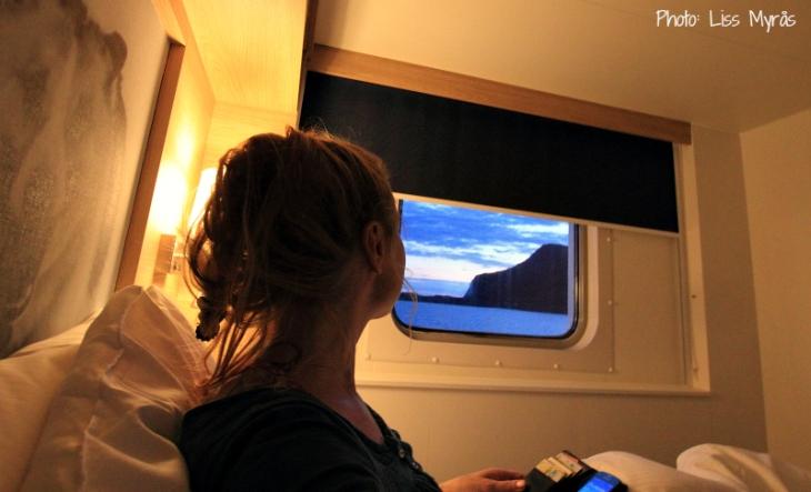 hurtigruten cabin view selfie