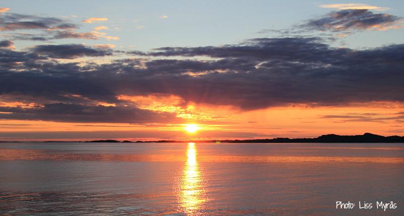 hurtigruten sunset landscape photo liss myraas