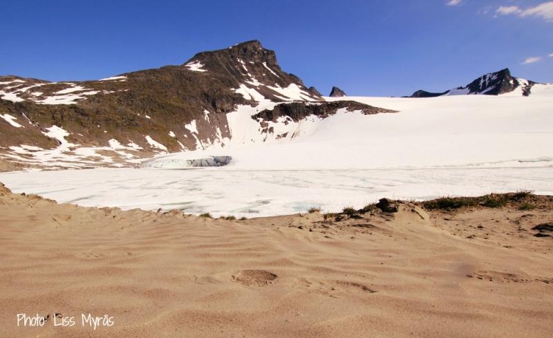 Store smorstabbtinden krossbu glacier sand jotunheimen photo liss myras