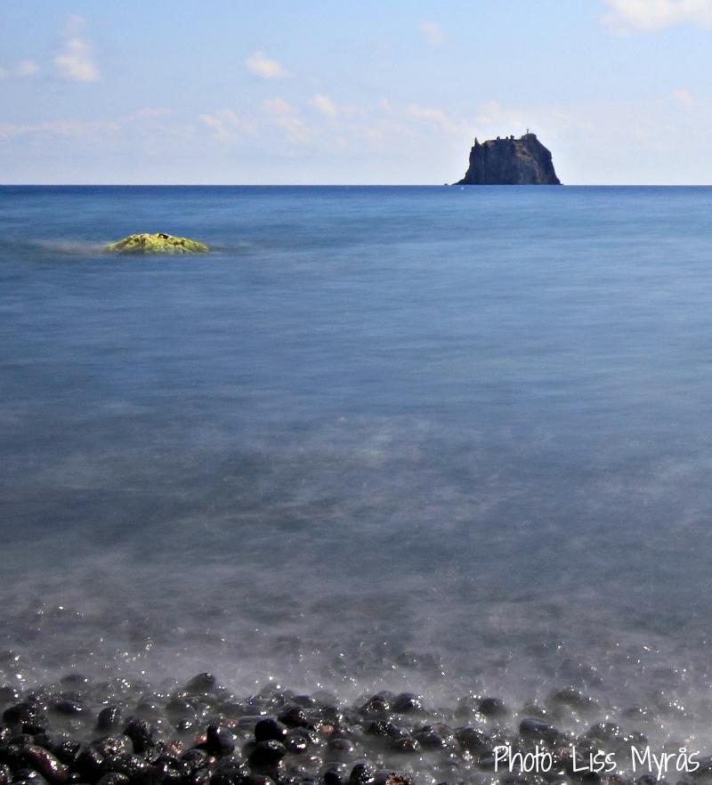 strombolicchio stromboli landscape lighthouse italy photo liss myrås