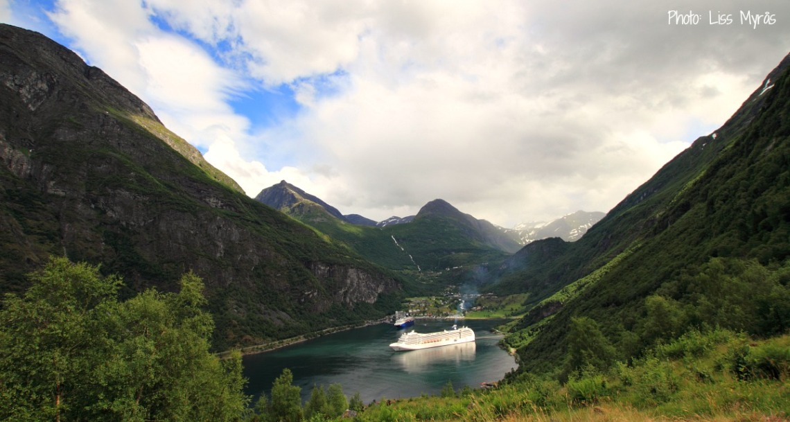 Geiranger fjord norway homlong cruise landscape photo liss myras