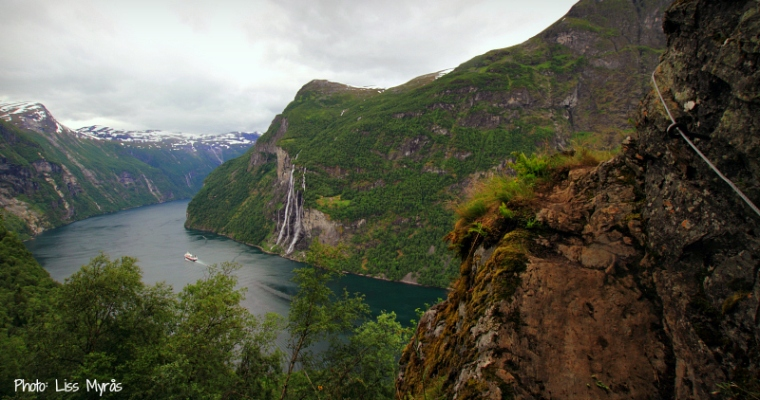 hiking geiranger fjord skagefla knivsfla trail norway landscape photo liss myras