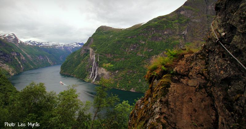 hiking geiranger fjord skagefla knivsfla trail norway landscape photo liss myras